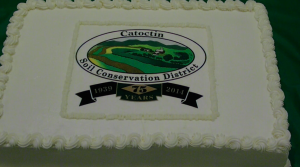 Cake served at the Catoctin Soil Conservation 75th anniversary celebration