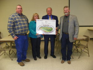 Take Pride in Frederick County Award-East Side Farm, L-R Jay and Shelly Stull (East Side Farm), Bud Otis (President Frederick County Council), Scott Hipkins (Frederick SCD Supervisor)